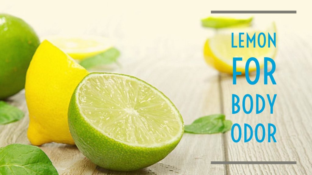 Lemon remove underarm odor