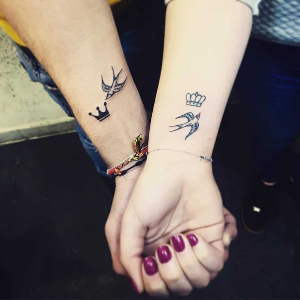 unique couple tattoo designs