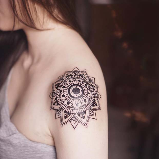 female shoulder tattoos ideas