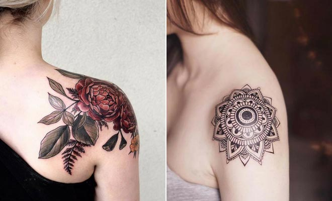 cute shoulder tattoos for females