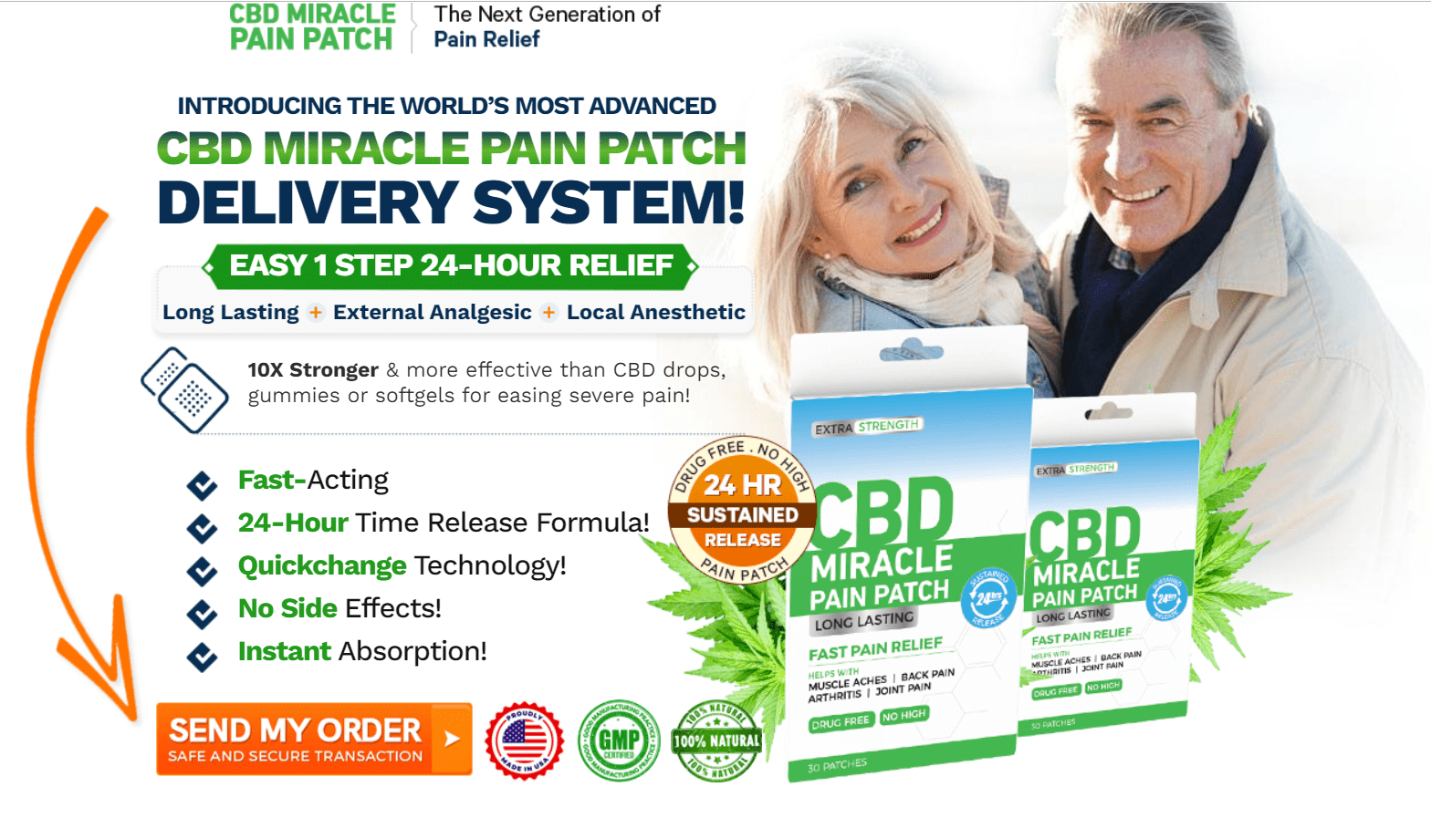 CBD Miracle Pain Patch order now