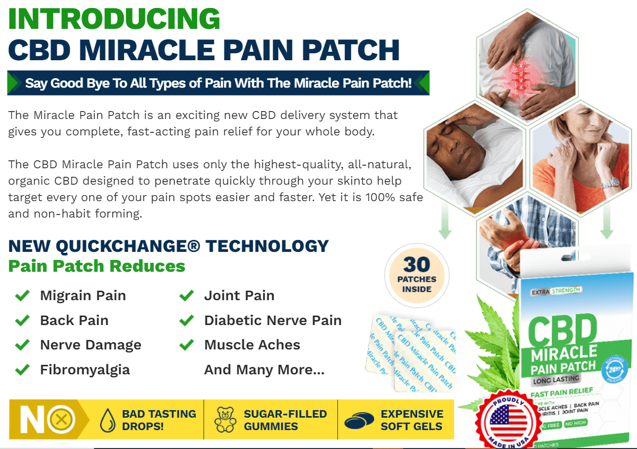 science behind CBD Miracle Pain Patch