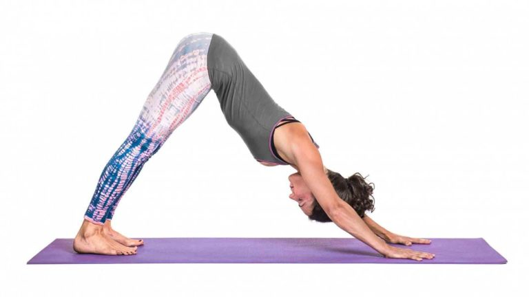 Downward Facing Dog - yoga exercises for beginners