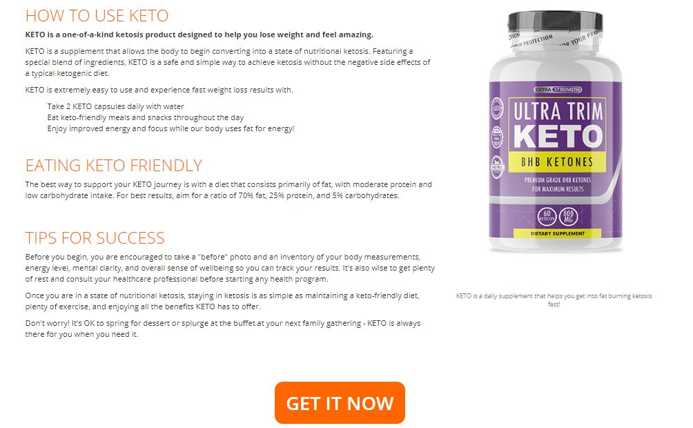 Ultra trim keto Pills